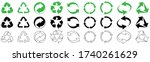 recycling vector character set.... | Shutterstock .eps vector #1740261629