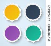 set of blank stickers.... | Shutterstock .eps vector #174026804