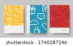 set of book cover icon design... | Shutterstock .eps vector #1740287246