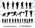 collection of business people... | Shutterstock . vector #174028823