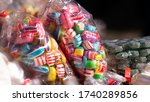 Colorful Candies In Plastic...