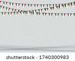 bunting hanging banner italy... | Shutterstock .eps vector #1740300983