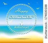 illustration summer holidays ... | Shutterstock .eps vector #174030188
