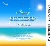 illustration summer holidays ... | Shutterstock .eps vector #174030194