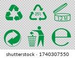 recycling vector character set. ... | Shutterstock .eps vector #1740307550