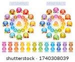 vitamin mineral nutrition set.... | Shutterstock .eps vector #1740308039