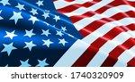 american flag waving. vector... | Shutterstock .eps vector #1740320909