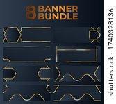 set of gold banner design with...   Shutterstock .eps vector #1740328136