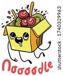 doodle style cartoon vector...   Shutterstock .eps vector #1740329963