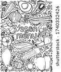 vector illustration vegan menu...   Shutterstock .eps vector #1740332426