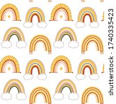 set of baby rainbows in white... | Shutterstock .eps vector #1740335423