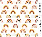 set of baby rainbows in white... | Shutterstock .eps vector #1740335426