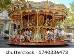 Old Fashioned Carousel Near Th...
