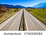 German Highway At The Alps  ...