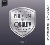 vector silver retro stamp ... | Shutterstock .eps vector #174034214