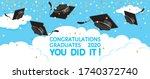 graduation festive traditional... | Shutterstock .eps vector #1740372740