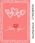Vector Pink Hearts And Frame O...