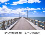 Beautiful Pier In A Sunny Day