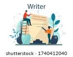 professional writer or... | Shutterstock .eps vector #1740412040