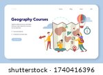 geography course web banner or... | Shutterstock .eps vector #1740416396