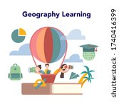 geography concept. global... | Shutterstock .eps vector #1740416399