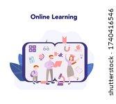 online education concept. idea...   Shutterstock .eps vector #1740416546
