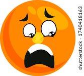 very scared smiley ... | Shutterstock .eps vector #1740418163