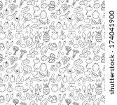 vegetarian seamless pattern | Shutterstock .eps vector #174041900