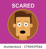 emotions of faces drawings.... | Shutterstock .eps vector #1740429566