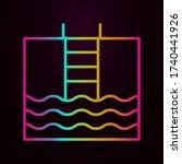 ladder swimming pool nolan icon ...