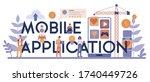 mobile application typographic...