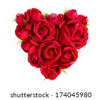 Stock photo heart made of red roses 174045980