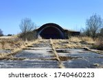 An Old Airfield With Abandoned...