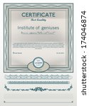 certificate template with... | Shutterstock .eps vector #174046874