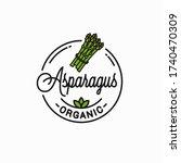asparagus vegetable logo. round ... | Shutterstock .eps vector #1740470309