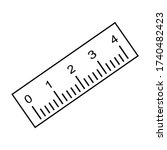 measuring ruler icon  length... | Shutterstock .eps vector #1740482423