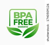 bpa free bisphenol a and...   Shutterstock .eps vector #1740509126