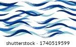 seamless wave pattern  hand...   Shutterstock .eps vector #1740519599