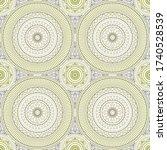 seamless background  eastern... | Shutterstock .eps vector #1740528539