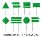 green road sign for haghway ...   Shutterstock .eps vector #1740565223