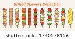 delicious grilled skewers menu...   Shutterstock .eps vector #1740578156