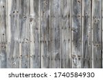 Vertical Lined Panels. Aged And ...