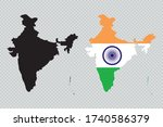 india solid black detailed map...   Shutterstock .eps vector #1740586379