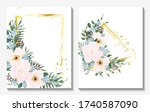 beautiful background with... | Shutterstock .eps vector #1740587090