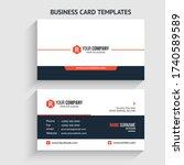 r letter logo minimal corporate ... | Shutterstock .eps vector #1740589589