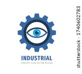 vision eye gear   vector logo... | Shutterstock .eps vector #1740602783