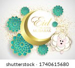 muslim community festival eid... | Shutterstock .eps vector #1740615680