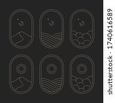 set of minimalistic logos. moon ... | Shutterstock .eps vector #1740616589