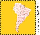 south america closed   virus...   Shutterstock .eps vector #1740618716