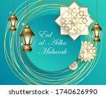 muslim community festival eid... | Shutterstock .eps vector #1740626990